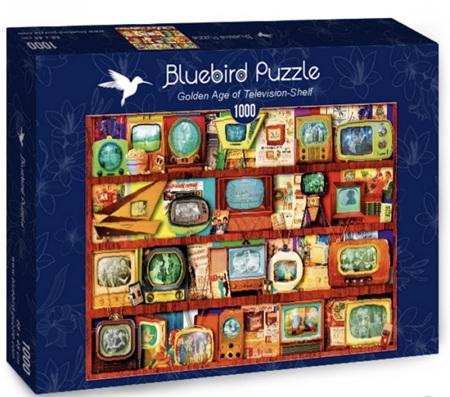 Bluebird 1000 Piece Jigsaw Puzzle: Golden Age of Television-Shelf