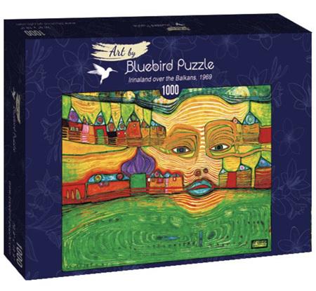 Bluebird 1000 Piece Jigsaw Puzzle:  Hundertwasser - Irinaland over the Balkans, 1969