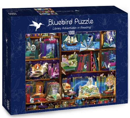 Bluebird 1000 Piece Jigsaw Puzzle:  Library Adventures in Reading