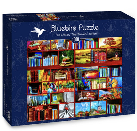 Bluebird 1000 Piece Jigsaw Puzzle:  Library Travel Section