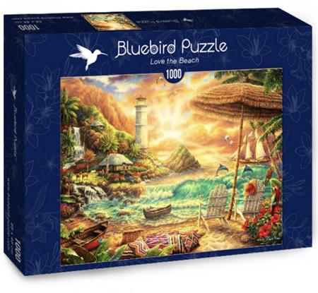 Bluebird 1000 Piece Jigsaw Puzzle:  Love The Beach