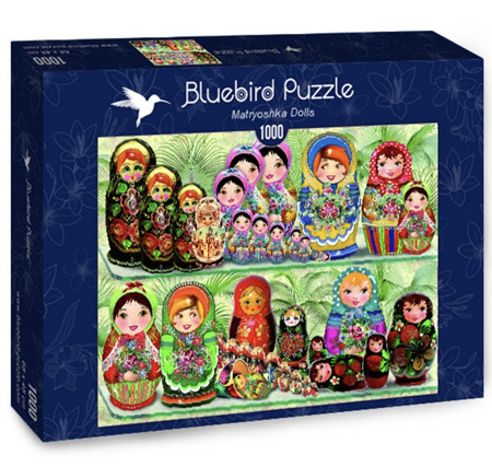Bluebird 1000 Piece Jigsaw Puzzle:  Matryoshka Dolls