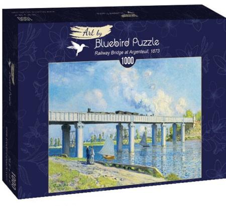 Bluebird 1000 Piece Jigsaw Puzzle:  Monet -Railway Bridge at Argenteuil, 1873