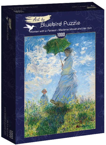 Bluebird 1000 Piece Jigsaw Puzzle:  Monet - Woman with a Parasol - Madame Monet and Her Son