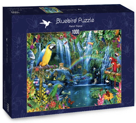 Bluebird 1000 Piece Jigsaw Puzzle:  Parrot Tropics