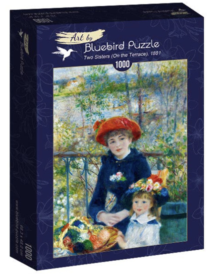 Bluebird 1000 Piece Jigsaw Puzzle:  Renoir - Two Sisters (On the Terrace), 1881