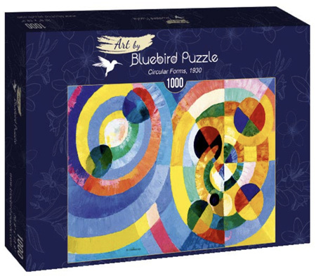 Bluebird 1000 Piece Jigsaw Puzzle:  Robert Delaunay - Circular Forms, 1930