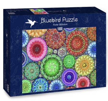 Bluebird 1000 Piece Jigsaw Puzzle:  Rose Window