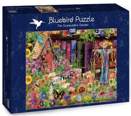 Bluebird 1000 Piece Jigsaw Puzzle:  The Scarecrow's Garden