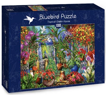 Bluebird 1000 Piece Jigsaw Puzzle:  Tropical Green House