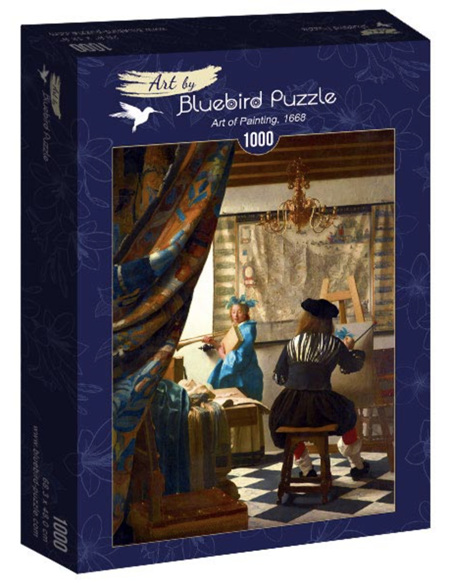 Bluebird 1000 Piece Jigsaw Puzzle:  Vermeer - Art of Painting, 1668
