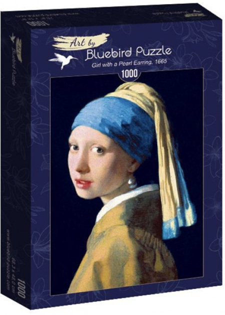 Bluebird 1000 Piece Jigsaw Puzzle:  Vermeer- Girl With Pearl Earring, 1665