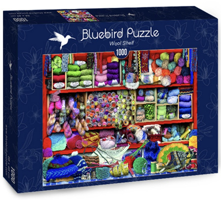 Bluebird 1000 Piece Jigsaw Puzzle:  Wool Shelf