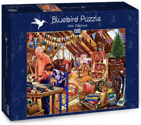 Bluebird 1500 Piece Jigsaw Puzzle: Attic Playtime