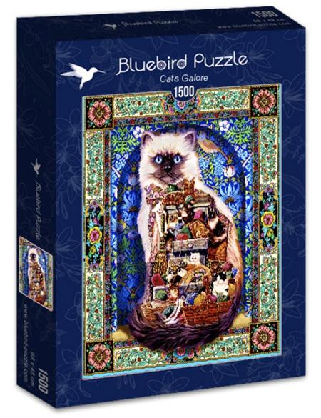 Bluebird 1500 Piece Jigsaw Puzzle:  Cats Galore
