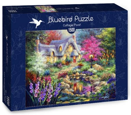 Bluebird 1500 Piece Jigsaw Puzzle:  Cottage Pond