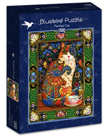 Bluebird 1500 Piece Jigsaw Puzzle:   Painted Cat