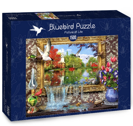 Bluebird 1500 Piece Jigsaw Puzzle:  Picture Of Life