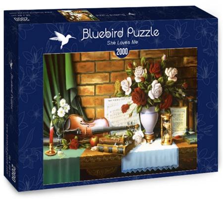 Bluebird 2000 Piece Jigsaw Puzzle:  She Loves Me