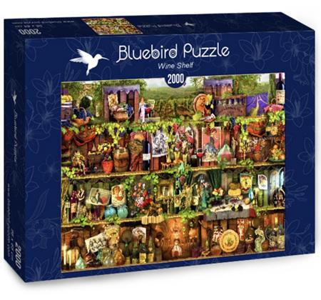 Bluebird 2000 Piece Jigsaw Puzzle:  Wine Shelves