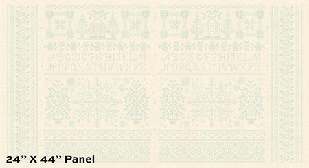 Bluebird Homestead Linen Panel A-9850-B