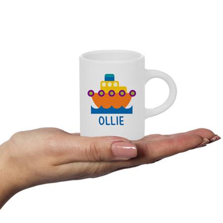 Boat Personalised Fluffy Mug