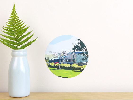 Boat Sheds wall decal dot