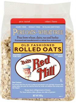 Bob's Red Mill Pure Wheat Free Rolled Oats, Old Fashioned 907g
