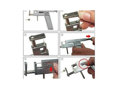 Body Ear Piercing Gun Pierce Metal Kit Tool+Marker pen+CASE