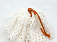 body pouf | burnt orange cord