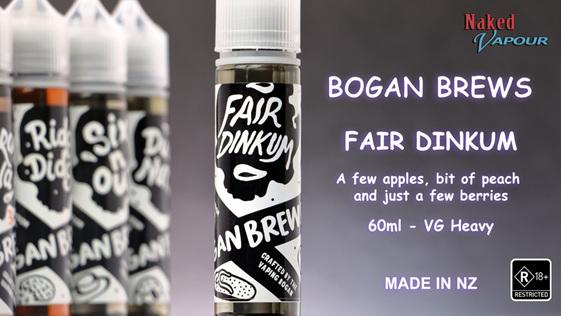 Bogan Brews - Fair Dinkum @ Naked Vapour