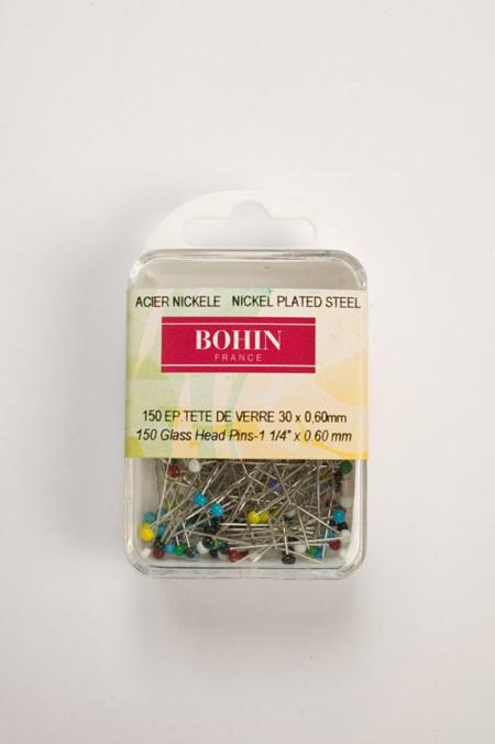 Bohin 150 Glass Head Pins