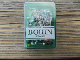Bohin Pins Glass head 1 1/4' x 0.6m