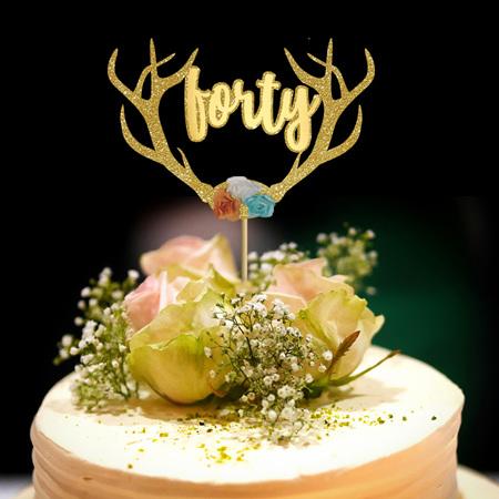 Boho Birthday  Cake Topper (any age)