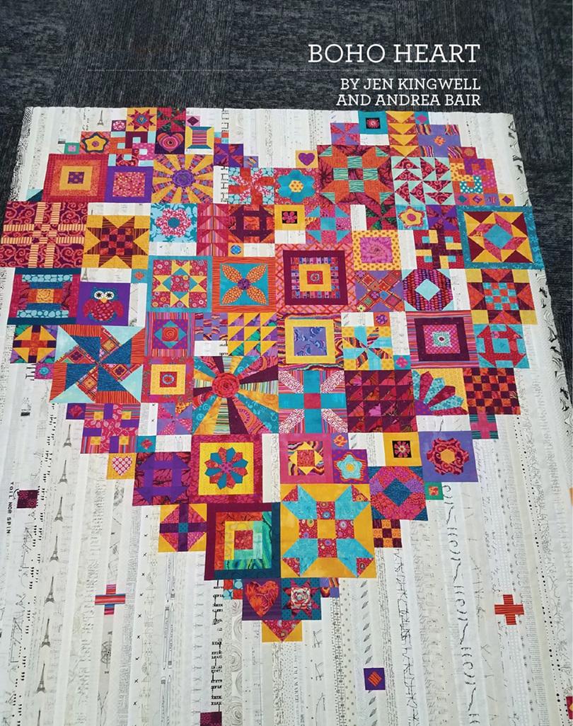 Boho Heart Quilt Booklet