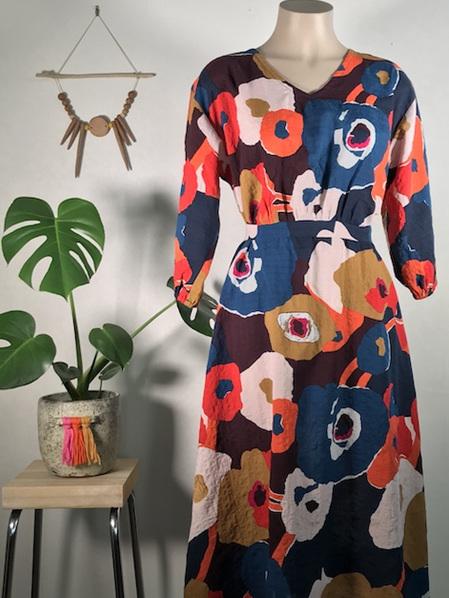 Bold floral April dress