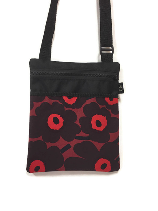Bold red flower handbag