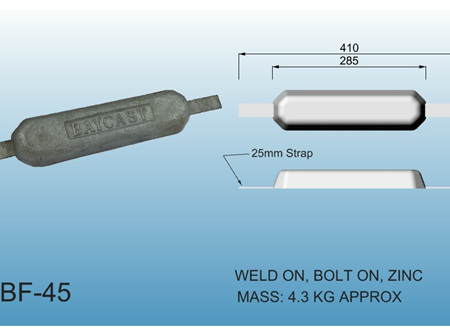 Bolt On Anodes - Zinc