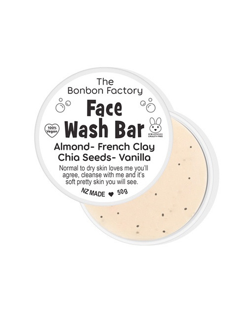 Bonbon Face Wash Bar Almond and Vanilla Clay