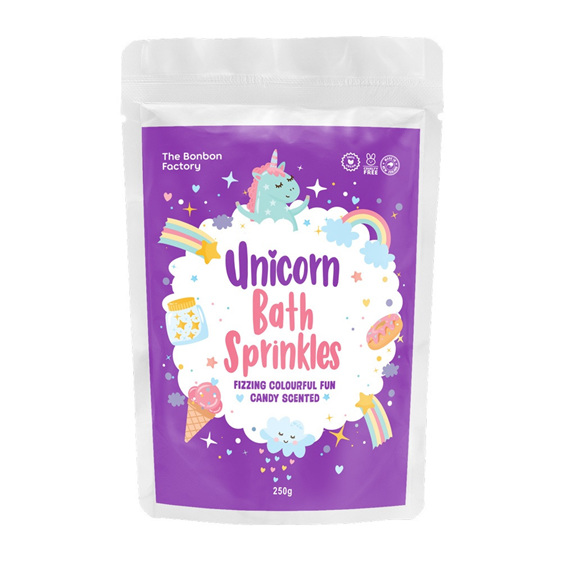 Bonbon Unicorn bath sprinkles