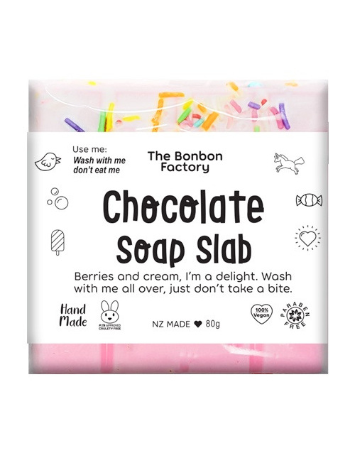 Bonbon Vegan 'chocolate' soap slabs