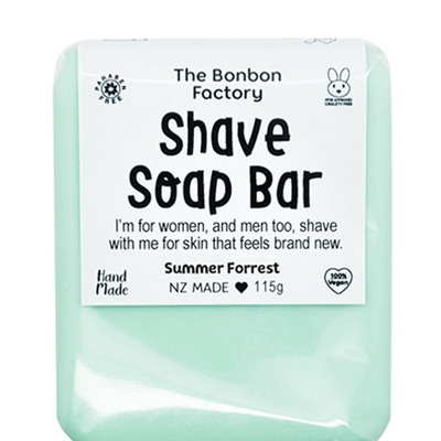 Bonbon Vegan Shave Soap Bar in Summer Meadow
