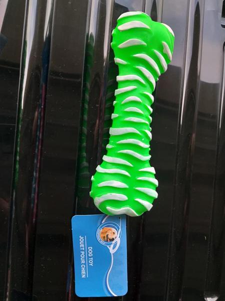 Bone Pet Squeaky Toy - Green