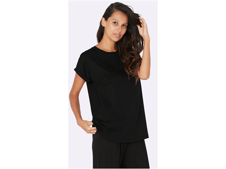 Boody Adult Lounge Top S Black