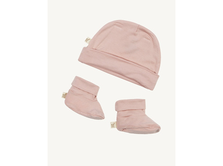 Boody Baby Beanie & Booties - Rose