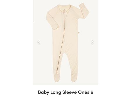 Boody Baby Long Sleeve Onesie Chalk Newborn