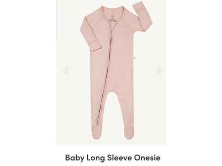 Boody Baby Long Sleeve Onesie Rose 6-12m