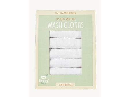 Boody Baby Muslin Wash Cloth 6 pack