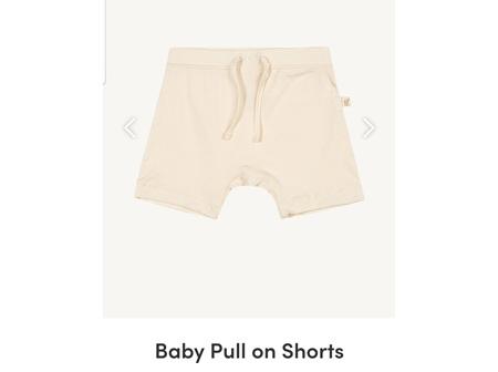 Boody Baby Pull On Shorts Chalk 6-12m 0