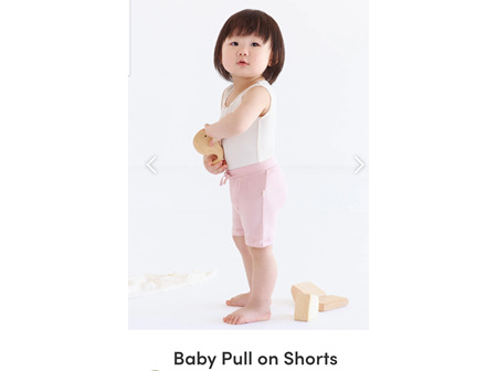Boody Baby Pull On Shorts Rose 3-6m